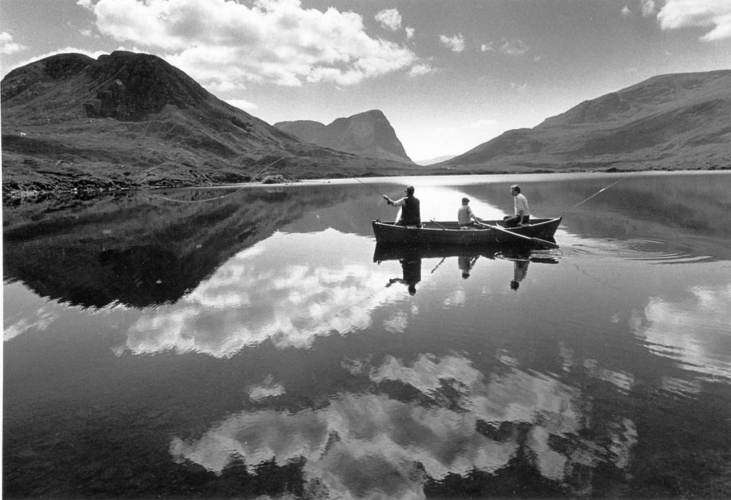 Loch fishing Harris